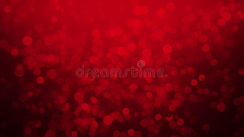 Κόκκινη ρομαντική αγάπη Bokeh για τις επικαλύψεις σύστασης υποβάθρου Μαγικός ακτινοβολήστε : στοκ φωτογραφίες με δικαίωμα ελεύθερης χρήσης