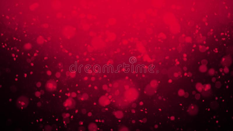 Κόκκινη ρομαντική αγάπη Bokeh για τις επικαλύψεις σύστασης υποβάθρου Μαγικός ακτινοβολήστε : στοκ φωτογραφία με δικαίωμα ελεύθερης χρήσης