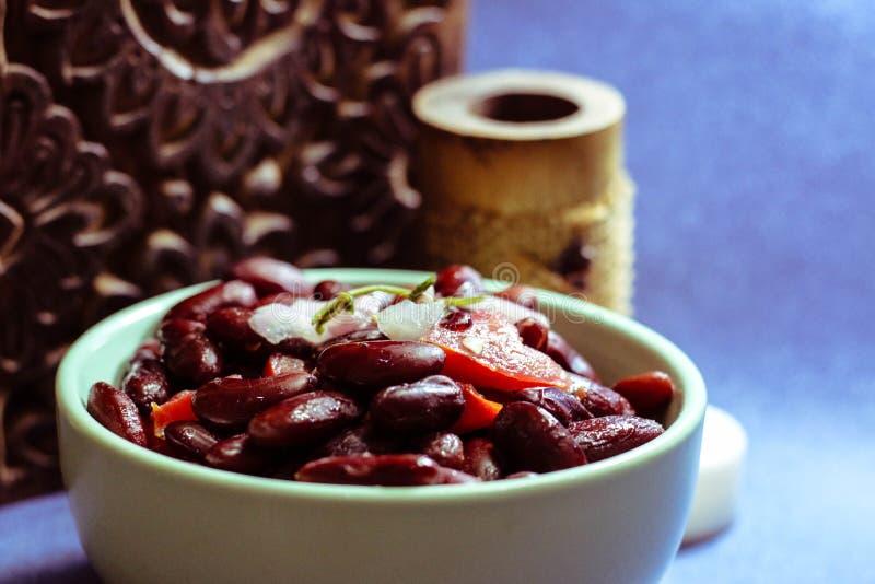 Κόκκινη σαλάτα φασολιών στοκ εικόνα