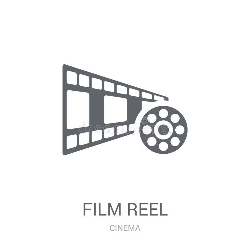 κόκκινη σειρά εξελίκτρων εικονιδίων ταινιών  απεικόνιση αποθεμάτων