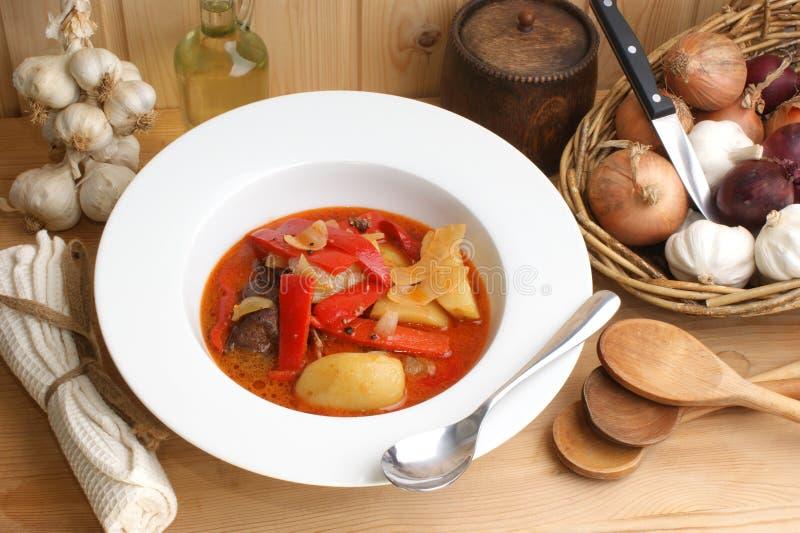 κόκκινη σούπα πατατών πάπρικ&a στοκ φωτογραφία