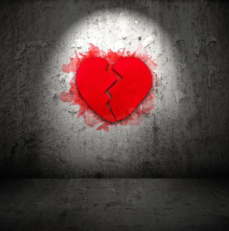 Κόκκινη σπασμένη καρδιά στοκ φωτογραφία με δικαίωμα ελεύθερης χρήσης
