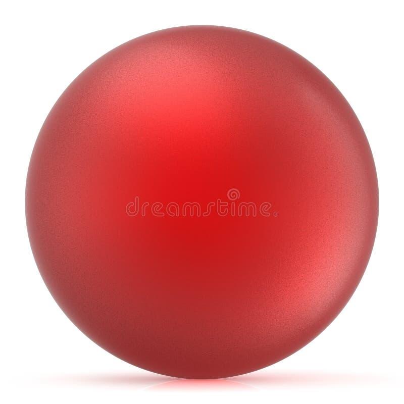 Κόκκινη σφαίρα γύρω από το βασικό μπερδεμένο μπαλόνι κύκλων σφαιρών κουμπιών διανυσματική απεικόνιση