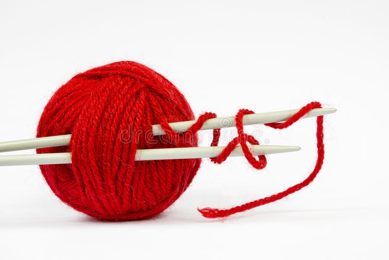 Κόκκινη σφαίρα μαλλιού στοκ φωτογραφία με δικαίωμα ελεύθερης χρήσης