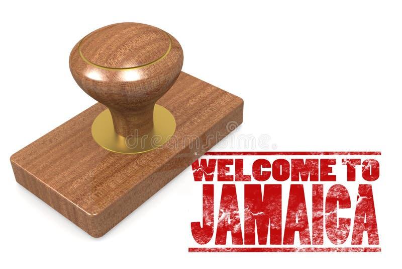 Κόκκινη σφραγίδα με την υποδοχή στην Τζαμάικα διανυσματική απεικόνιση