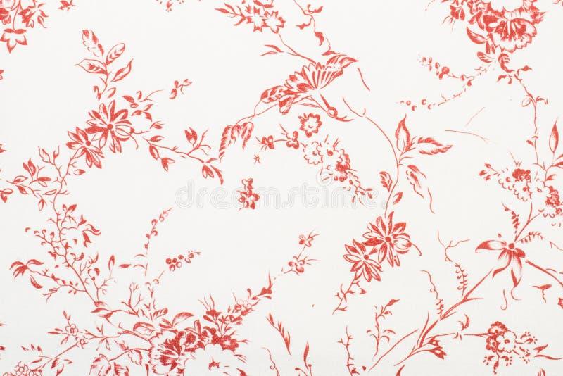 Κόκκινη σύσταση εγγράφου λουλουδιών και φύλλων ελεύθερη απεικόνιση δικαιώματος