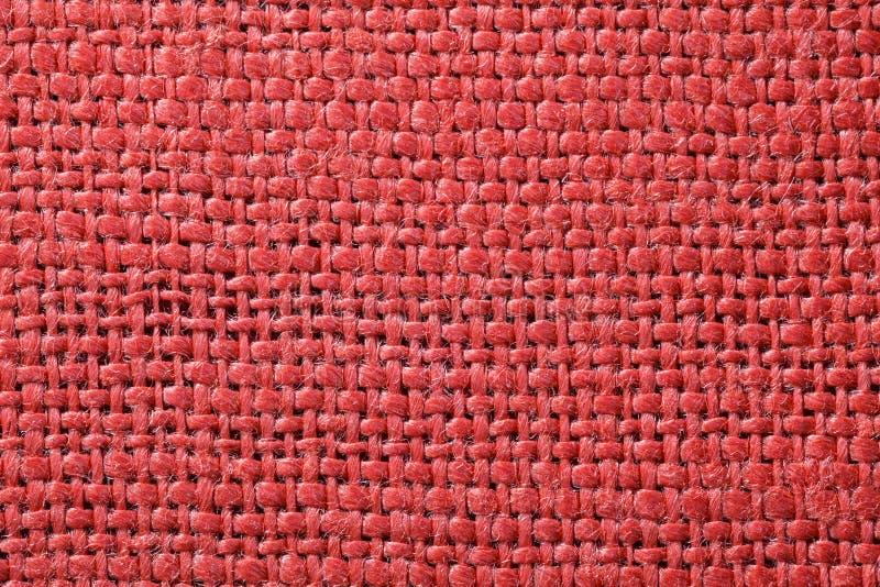 Κόκκινη σύσταση υφάσματος Κόκκινο υπόβαθρο υφασμάτων Κλείστε επάνω την άποψη της κόκκινων σύστασης και του υποβάθρου υφάσματος στοκ εικόνες με δικαίωμα ελεύθερης χρήσης