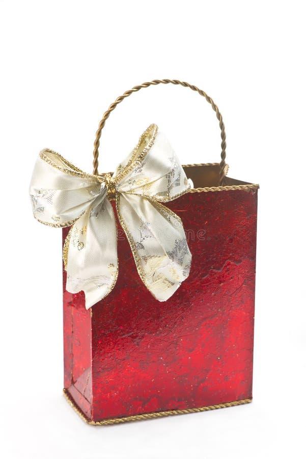 Κόκκινη τσάντα δώρων στοκ εικόνα