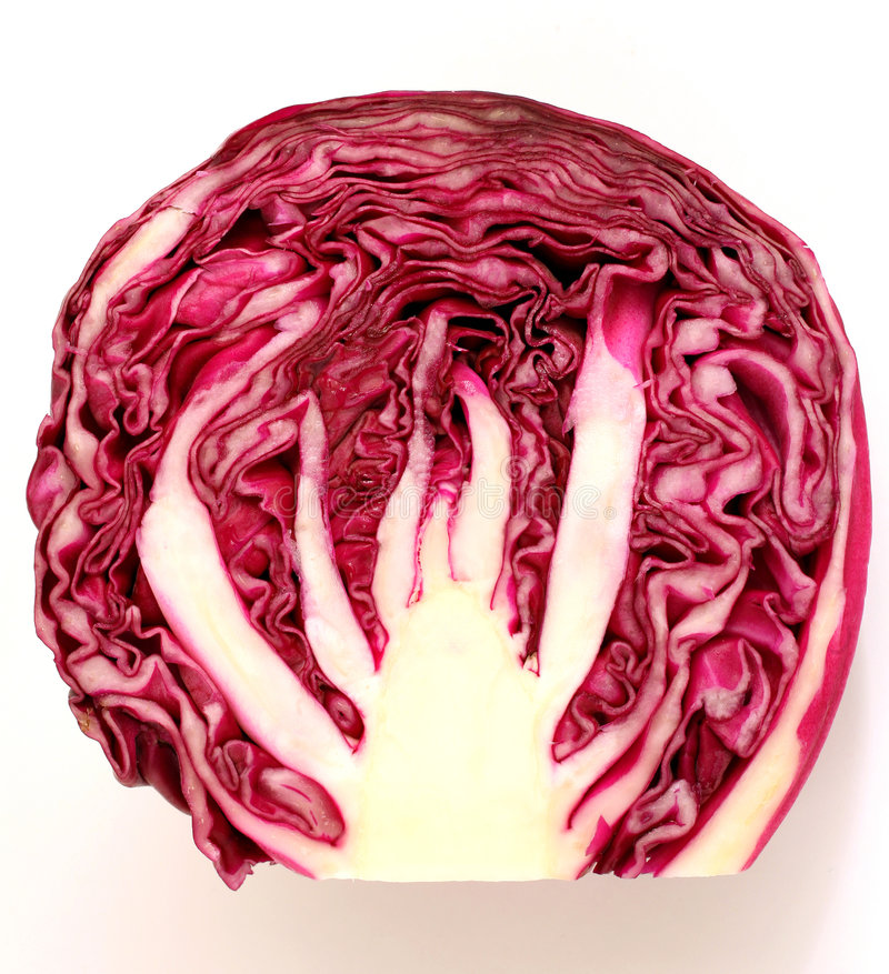 Download κόκκινη φέτα λάχανων στοκ εικόνες. εικόνα από υγεία, φυτικός - 1548108