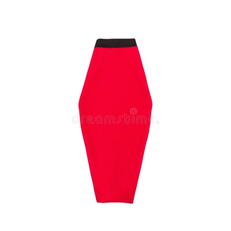 Κόκκινη φούστα μολυβιών μοντέρνη έννοια απομονωμένος Άσπρο backgroun στοκ εικόνα με δικαίωμα ελεύθερης χρήσης