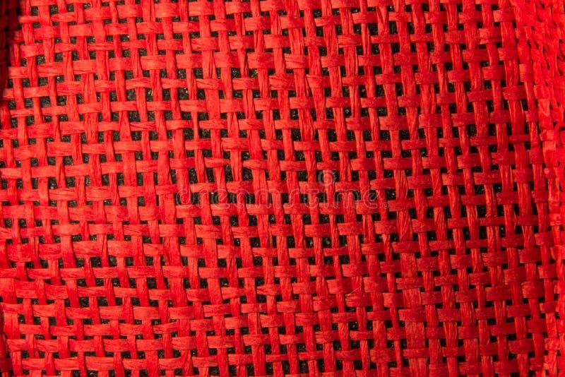 Κόκκινη φωτεινή αλιεία με δίχτυα αχύρου στοκ εικόνες