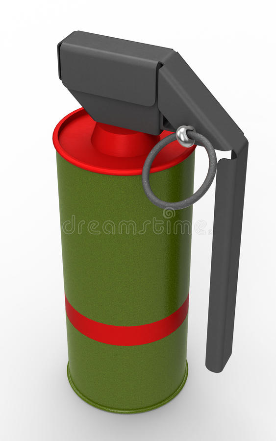 Κόκκινη χειροβομβίδα καπνού ελεύθερη απεικόνιση δικαιώματος