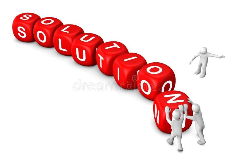 Κόκκινη λύση κύβων ανδρείκελων απεικόνιση αποθεμάτων
