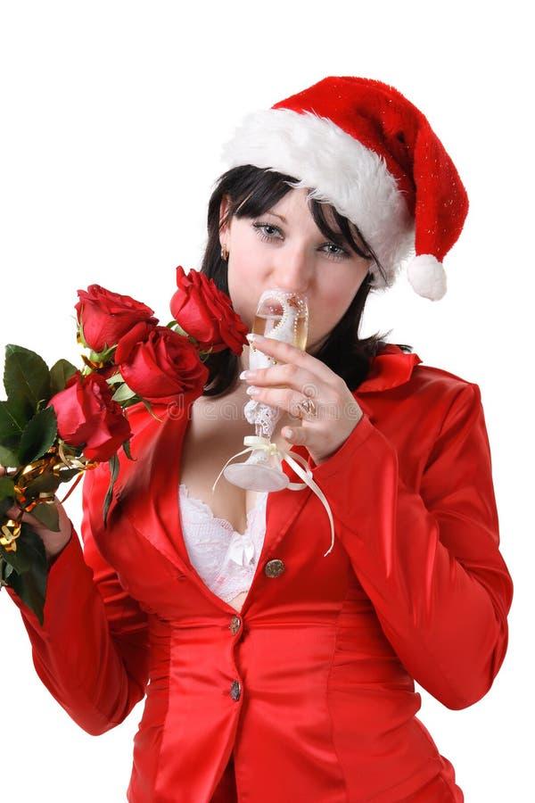 κόκκινη SAN γυναίκα κοστο&upsilon στοκ εικόνες