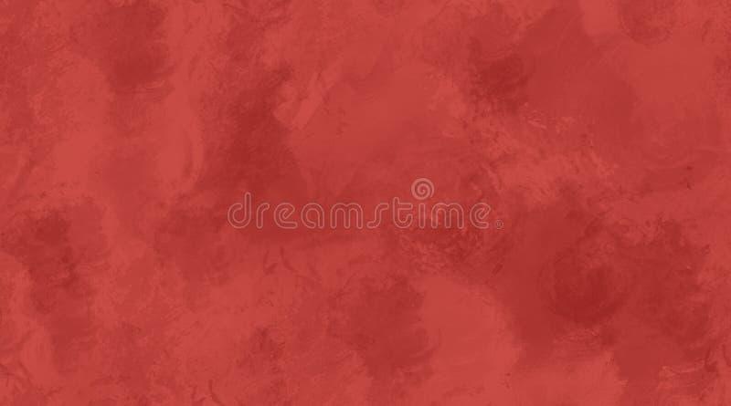 Κόκκινη Watercolor σύσταση κεραμιδιών υποβάθρου άνευ ραφής ελεύθερη απεικόνιση δικαιώματος
