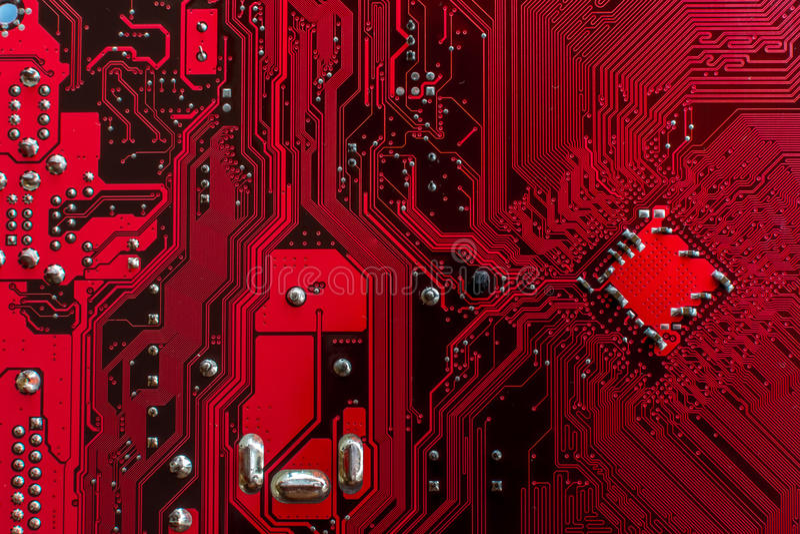 Κόκκινοι υπολογιστές PCB στοκ φωτογραφία