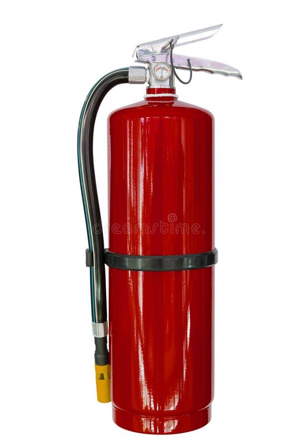 Κόκκινοι χημικοί πυροσβεστήρες που απομονώνονται στοκ φωτογραφία