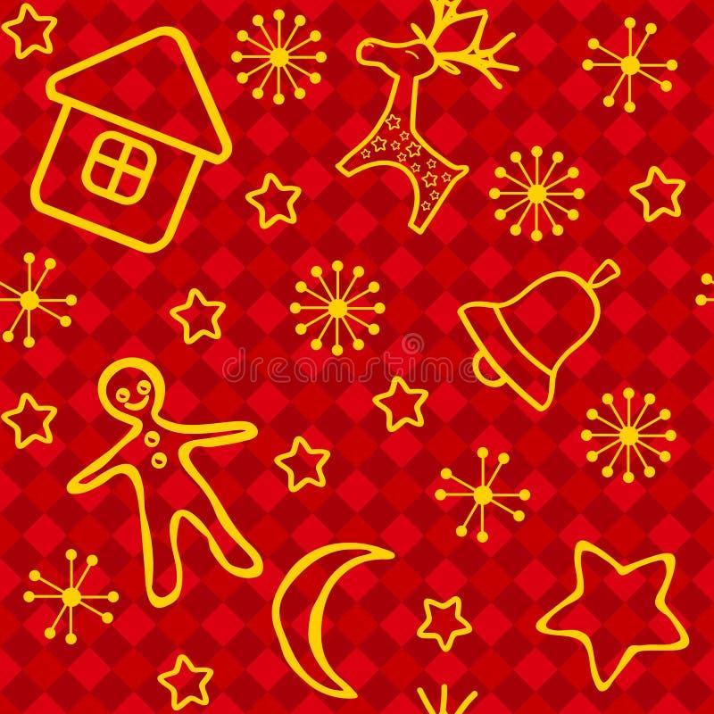 κόκκινος άνευ ραφής Χριστ διανυσματική απεικόνιση
