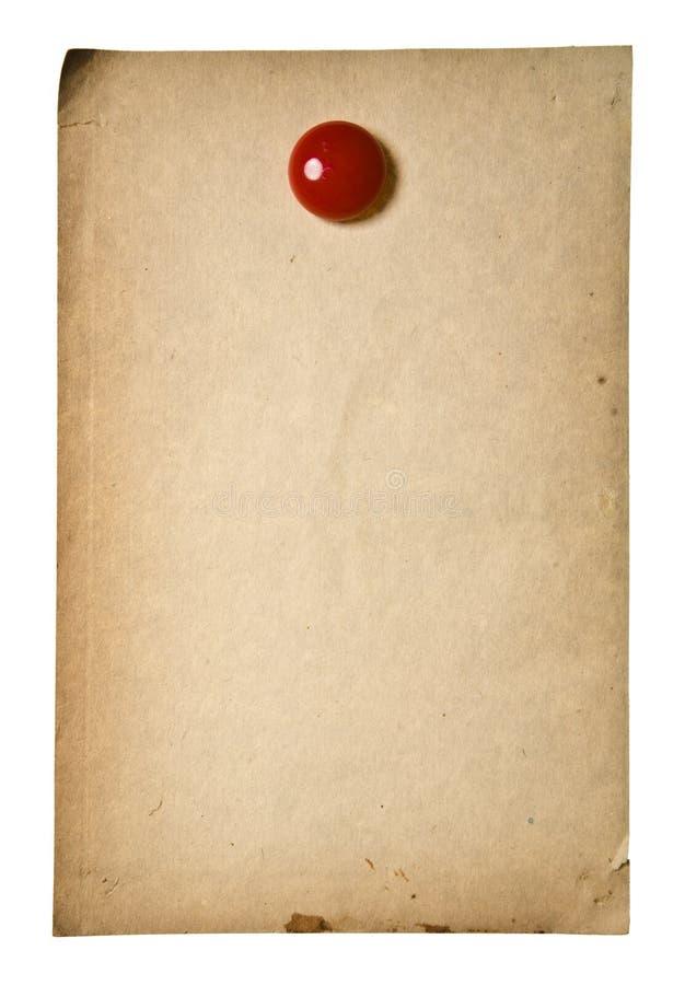 κόκκινος αναδρομικός εγγράφου συνδετήρων στοκ εικόνες