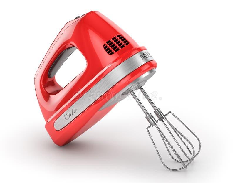 Κόκκινος αναμίκτης κουζινών απεικόνιση αποθεμάτων