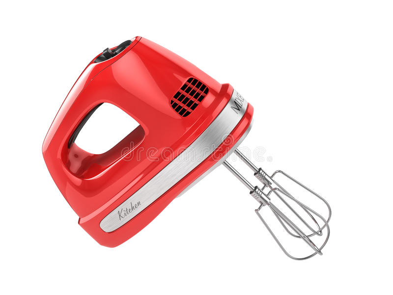 Κόκκινος αναμίκτης κουζινών διανυσματική απεικόνιση