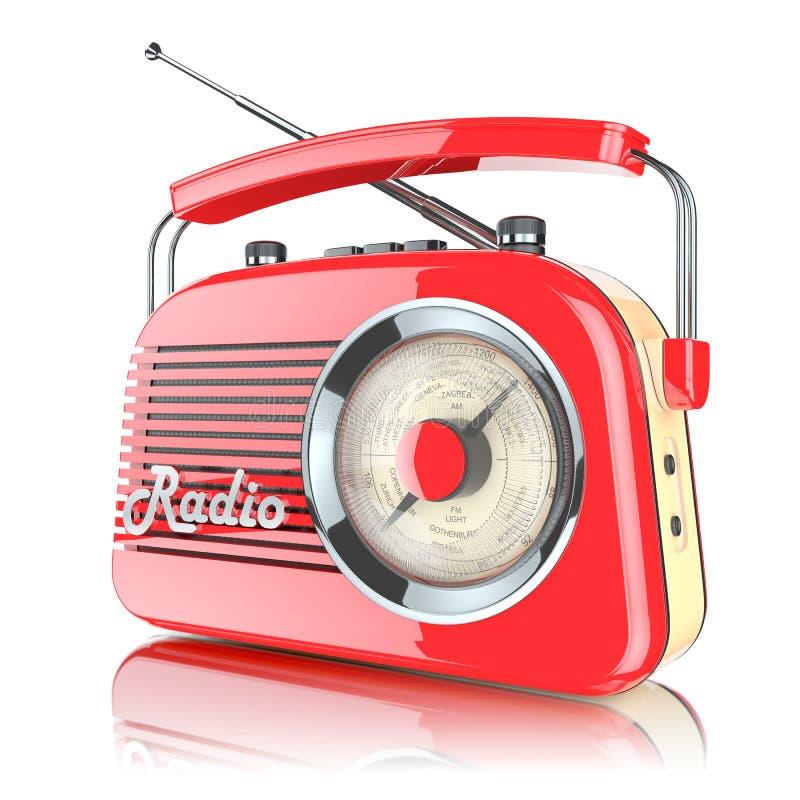 Κόκκινος αναδρομικός ραδιο δέκτης ελεύθερη απεικόνιση δικαιώματος