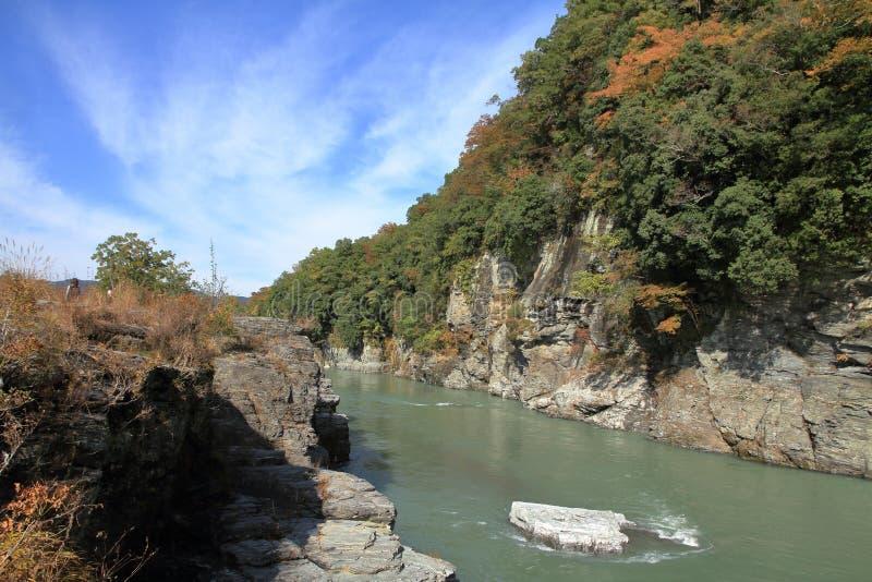 Κόκκινος απότομος βράχος Chichibu σε Nagatoro στοκ φωτογραφία με δικαίωμα ελεύθερης χρήσης