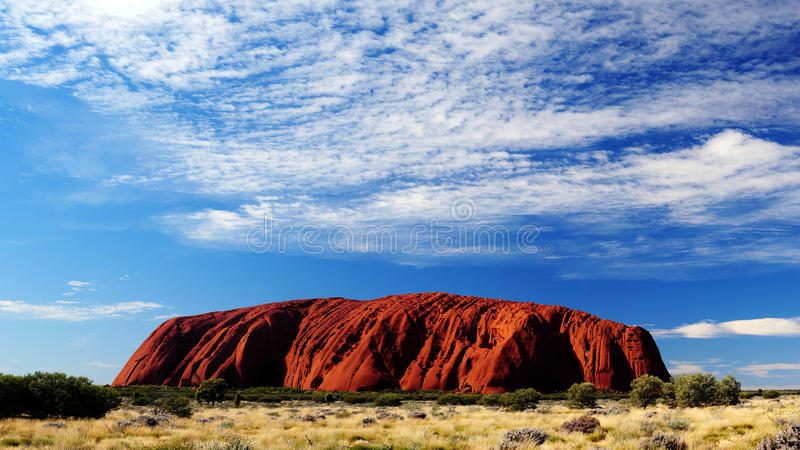 Κόκκινος βράχος της Αυστραλίας στοκ φωτογραφίες με δικαίωμα ελεύθερης χρήσης