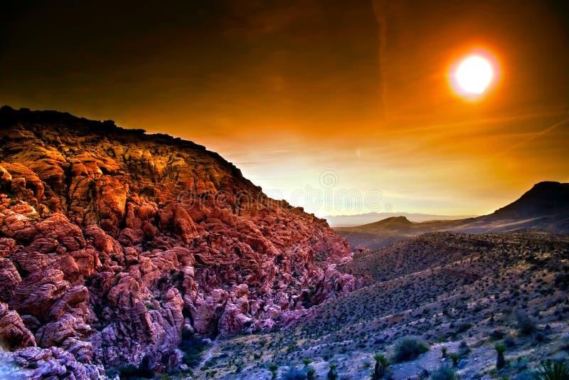 κόκκινος βράχος της Νεβάδας φαραγγιών στοκ φωτογραφία με δικαίωμα ελεύθερης χρήσης