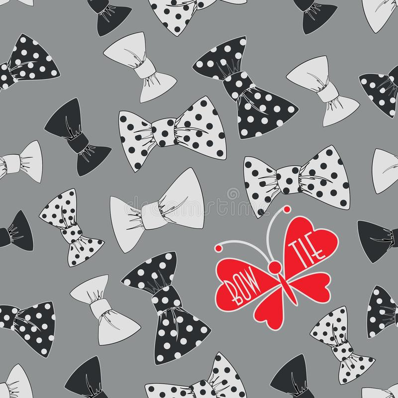 Κόκκινος δεσμός πεταλούδων και τόξων ελεύθερη απεικόνιση δικαιώματος