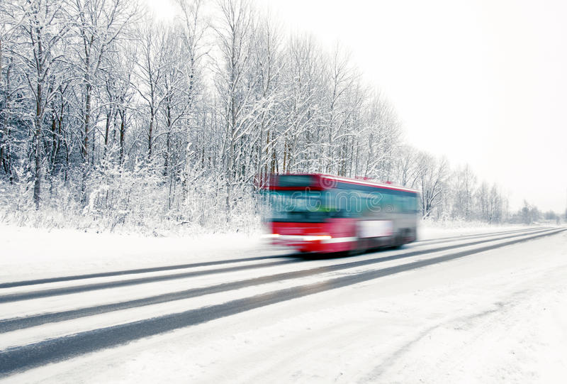 Κόκκινος διάδρομος το χειμώνα στοκ εικόνες με δικαίωμα ελεύθερης χρήσης