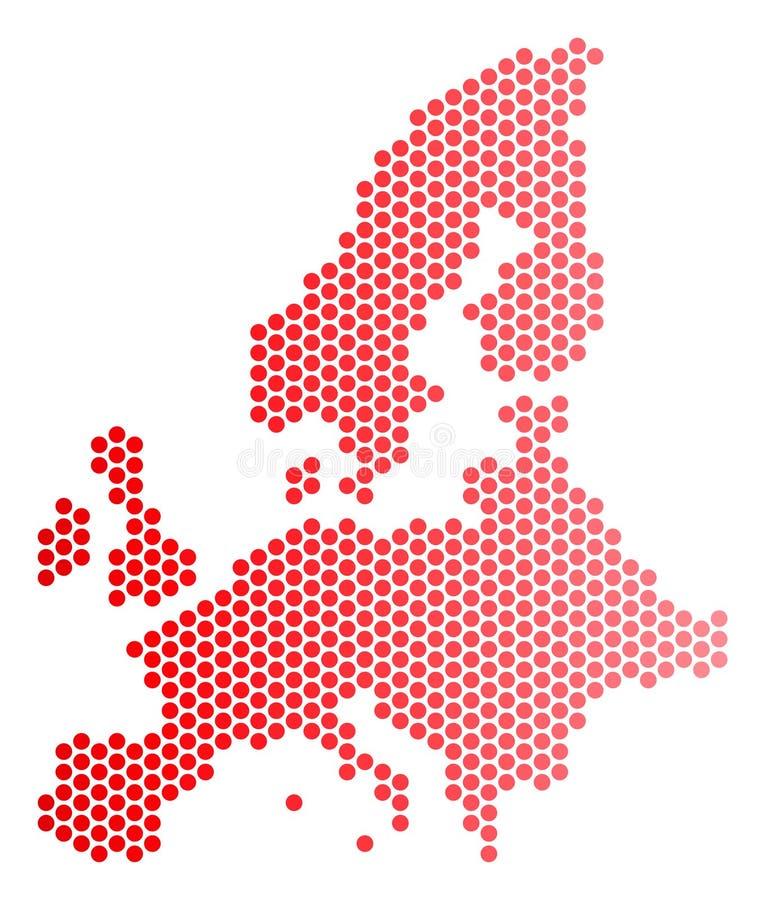 Κόκκινος διαστιγμένος χάρτης της Ευρωπαϊκής Ένωσης ελεύθερη απεικόνιση δικαιώματος