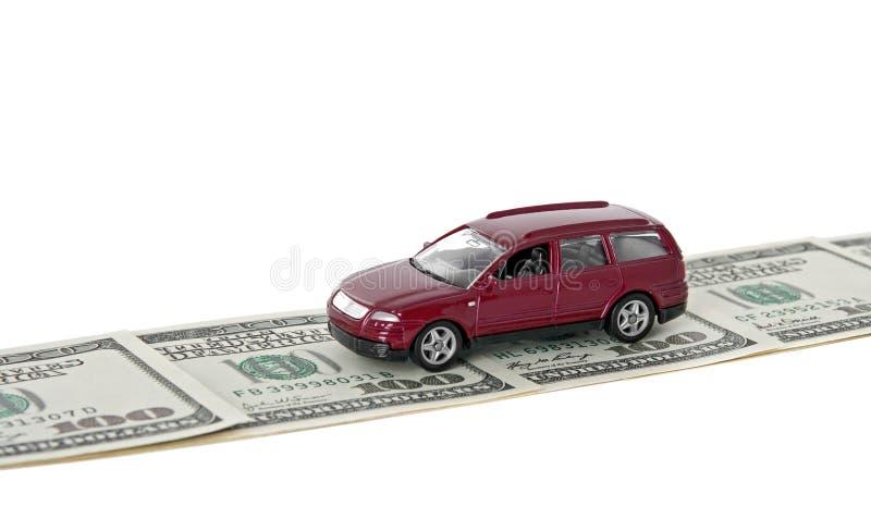 κόκκινος δρόμος χρημάτων α& στοκ εικόνες