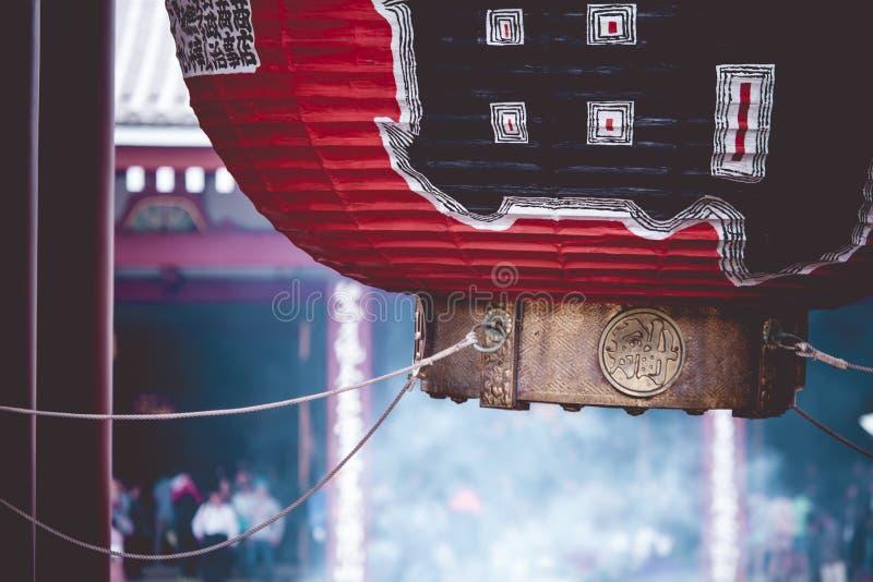 Κόκκινος ιαπωνικός ναός Sensoji-sensoji-ji σε Asakusa, Τόκιο, Ιαπωνία στοκ εικόνες με δικαίωμα ελεύθερης χρήσης