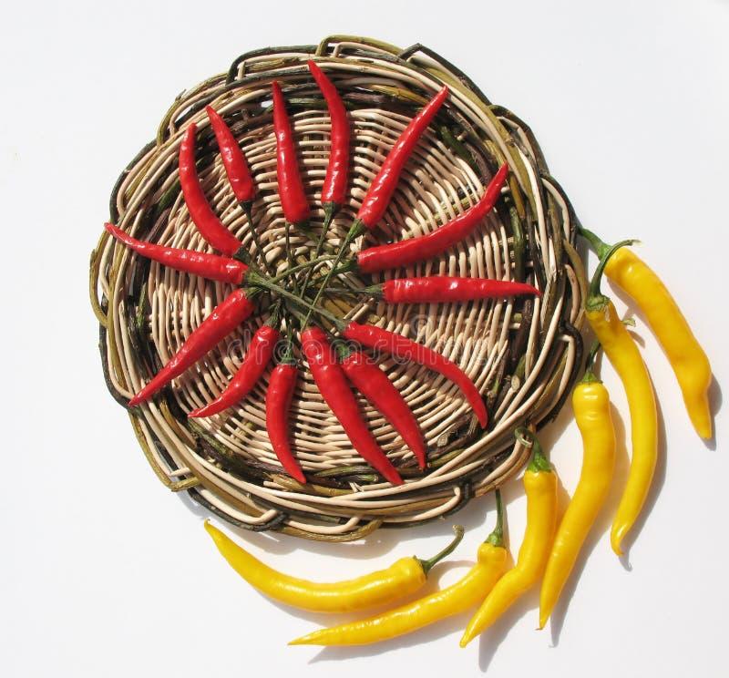 κόκκινος κίτρινος πιπερι στοκ εικόνες με δικαίωμα ελεύθερης χρήσης