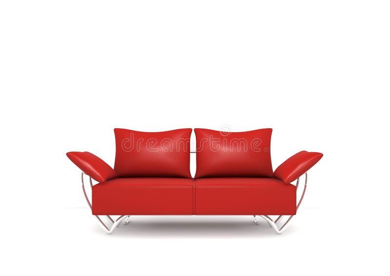 κόκκινος καναπές ελεύθερη απεικόνιση δικαιώματος