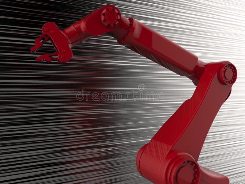 Κόκκινος κυβερνητικός ρομποτικός βραχίονας ελεύθερη απεικόνιση δικαιώματος