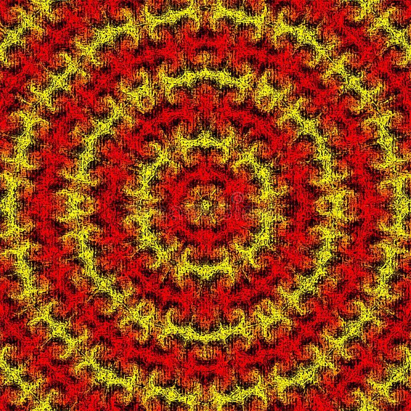 Κόκκινος, πορτοκαλής και κίτρινος αφηρημένος ήλιος ακτινοβόλος ελεύθερη απεικόνιση δικαιώματος