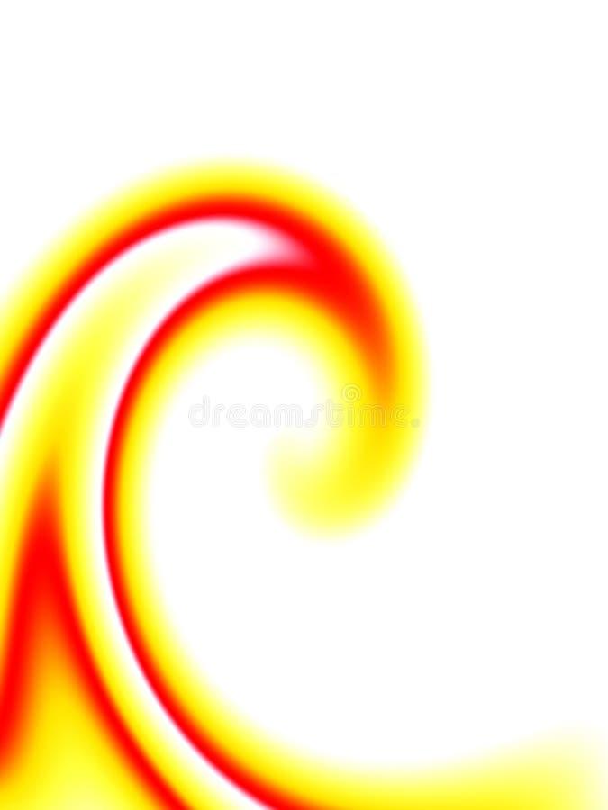 κόκκινος στρόβιλος κίτρινος ελεύθερη απεικόνιση δικαιώματος