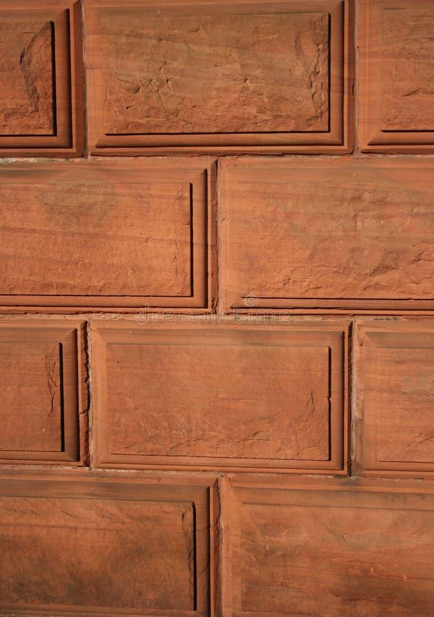 κόκκινος τοίχος πετρών αν&a στοκ εικόνες με δικαίωμα ελεύθερης χρήσης