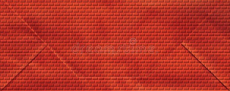 κόκκινος τοίχος τούβλων διανυσματική απεικόνιση