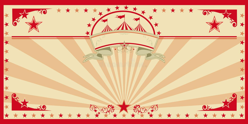 Κόκκινος τρύγος καρτών τσίρκων στοκ φωτογραφία με δικαίωμα ελεύθερης χρήσης