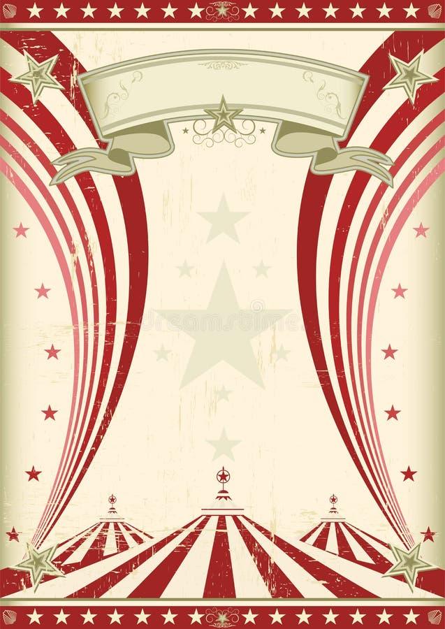 Κόκκινος τρύγος τσίρκων ουράνιων τόξων απεικόνιση αποθεμάτων