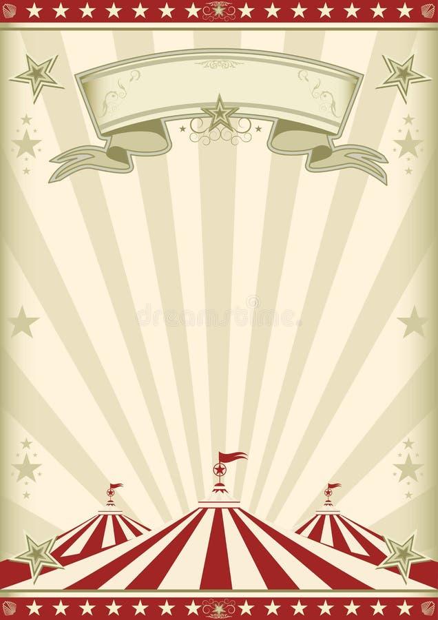 Κόκκινος τρύγος τσίρκων ουράνιων τόξων διανυσματική απεικόνιση