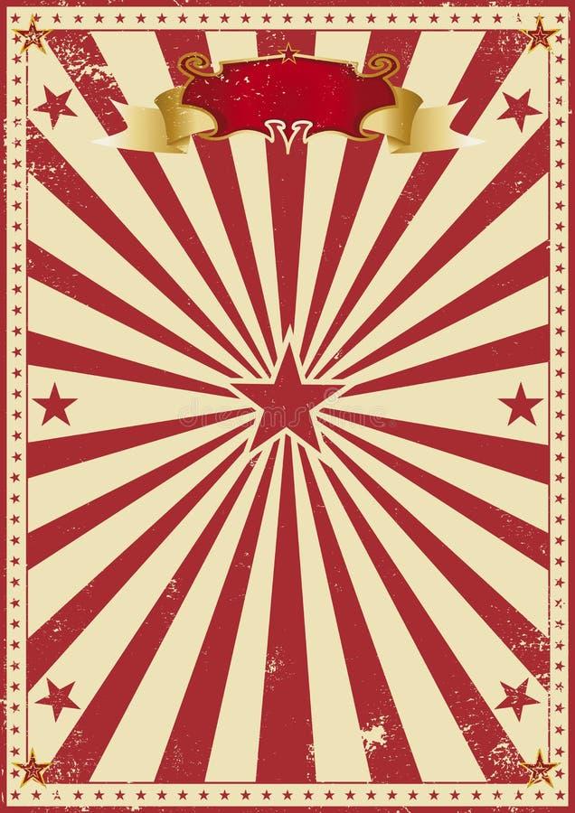 Κόκκινος τρύγος τσίρκων ελεύθερη απεικόνιση δικαιώματος