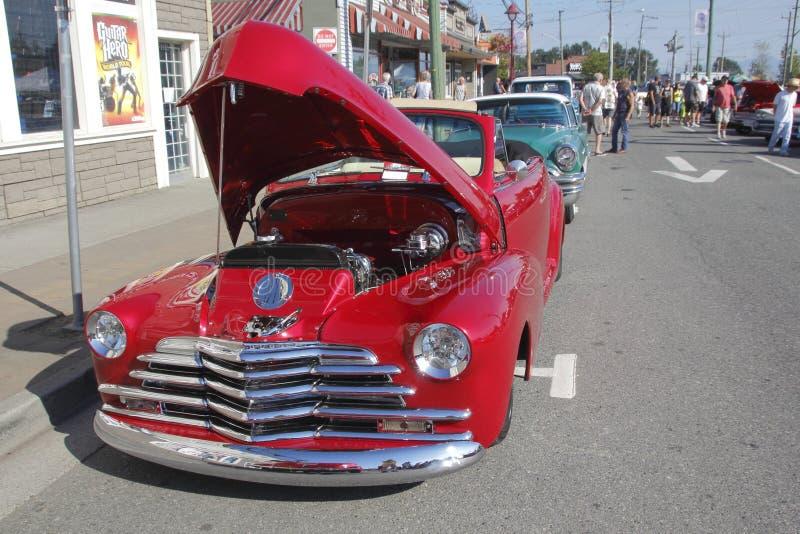 Κόκκινος τρύγος 1947 Chevrolet Cabriola στοκ εικόνες