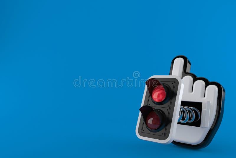 Κόκκινος φωτεινός σηματοδότης με το δρομέα Ιστού ελεύθερη απεικόνιση δικαιώματος