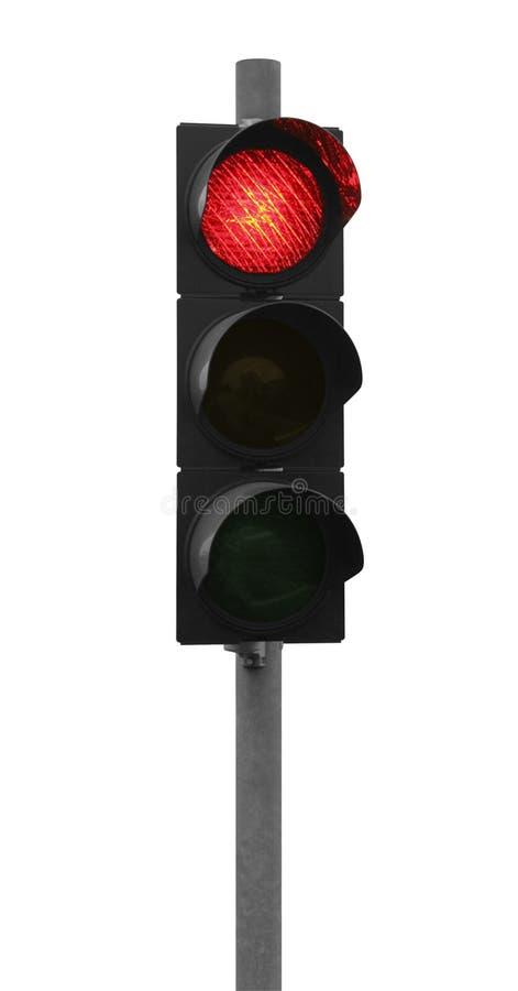 Κόκκινος φωτεινός σηματοδότης στοκ εικόνα με δικαίωμα ελεύθερης χρήσης