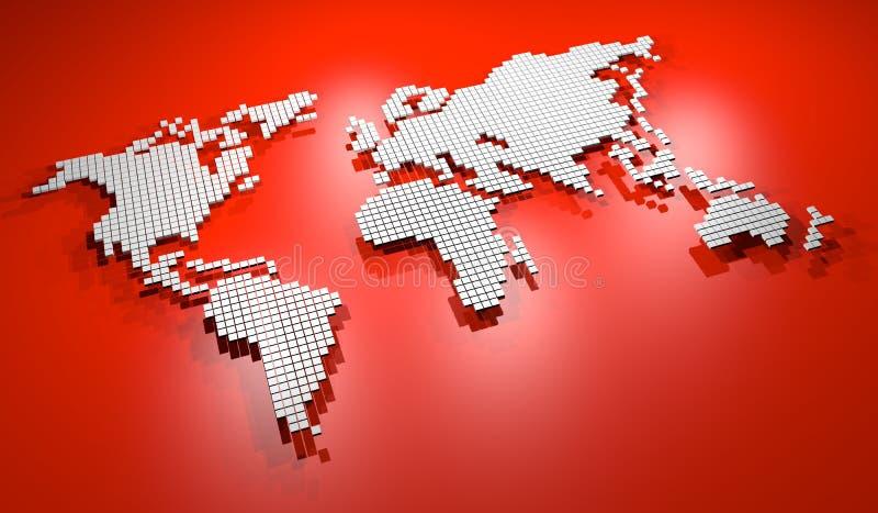 Κόκκινος χάρτης διανυσματική απεικόνιση