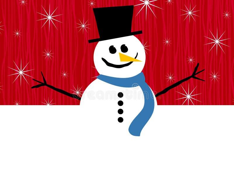 κόκκινος χιονάνθρωπος σ&up διανυσματική απεικόνιση
